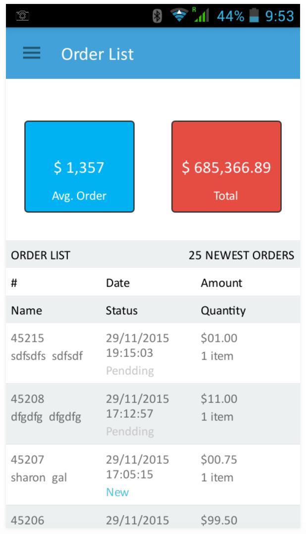 אפליקציה לניהול והתראות הזמנות בחנות 1net